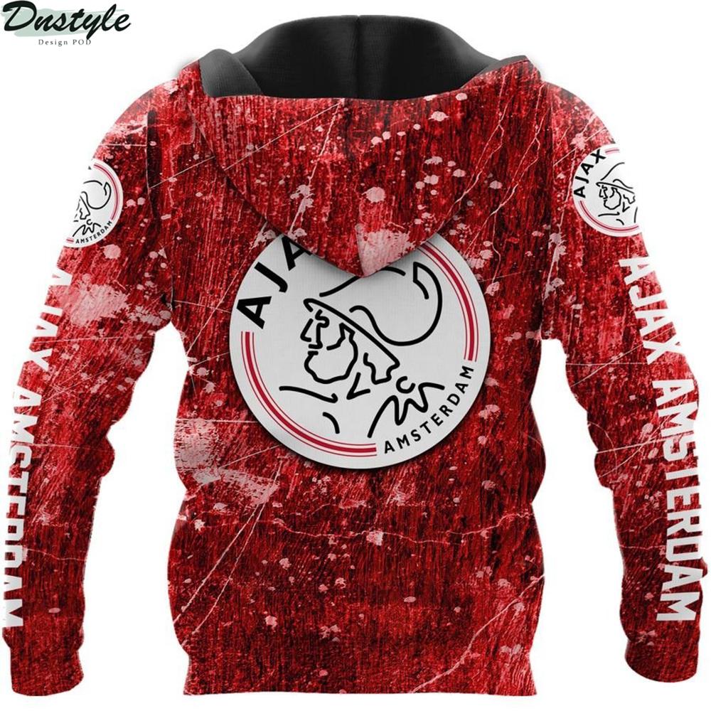 Ajax amsterdam 3d all over printed hoodie 1