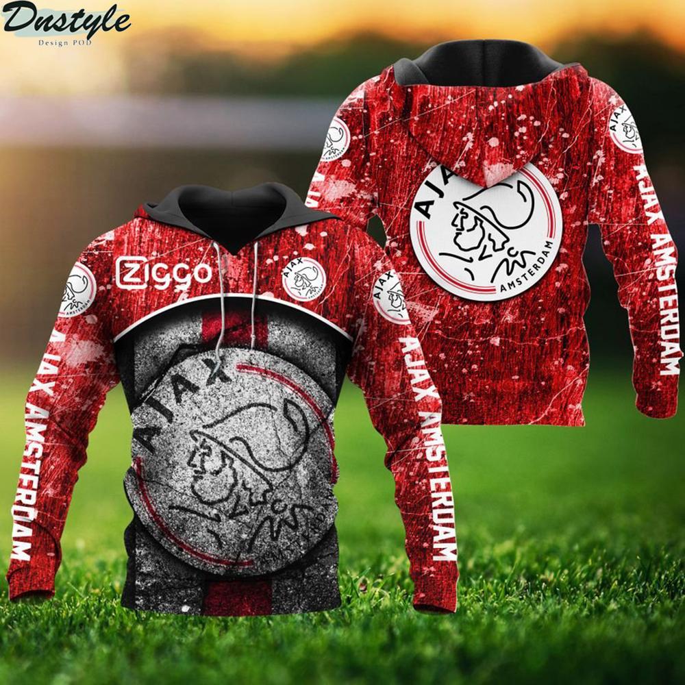 Ajax amsterdam 3d all over printed hoodie