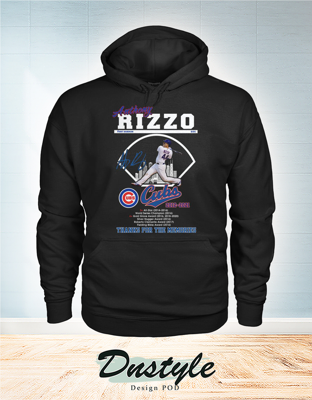 Anthony Rizzo Chicago Cubs thank you for the memories hoodie