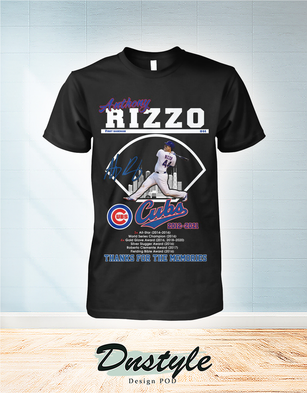 Anthony Rizzo Chicago Cubs thank you for the memories shirt