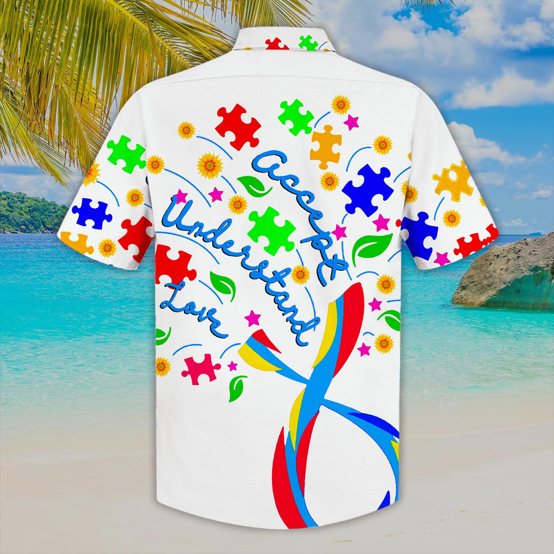 Autism Accept Understand Love Hawaiian Shirt 1