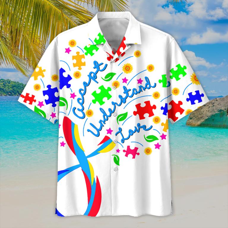 Autism Accept Understand Love Hawaiian Shirt