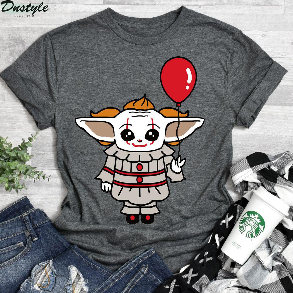 Baby Yoda Cosplay Pennywise shirt 2