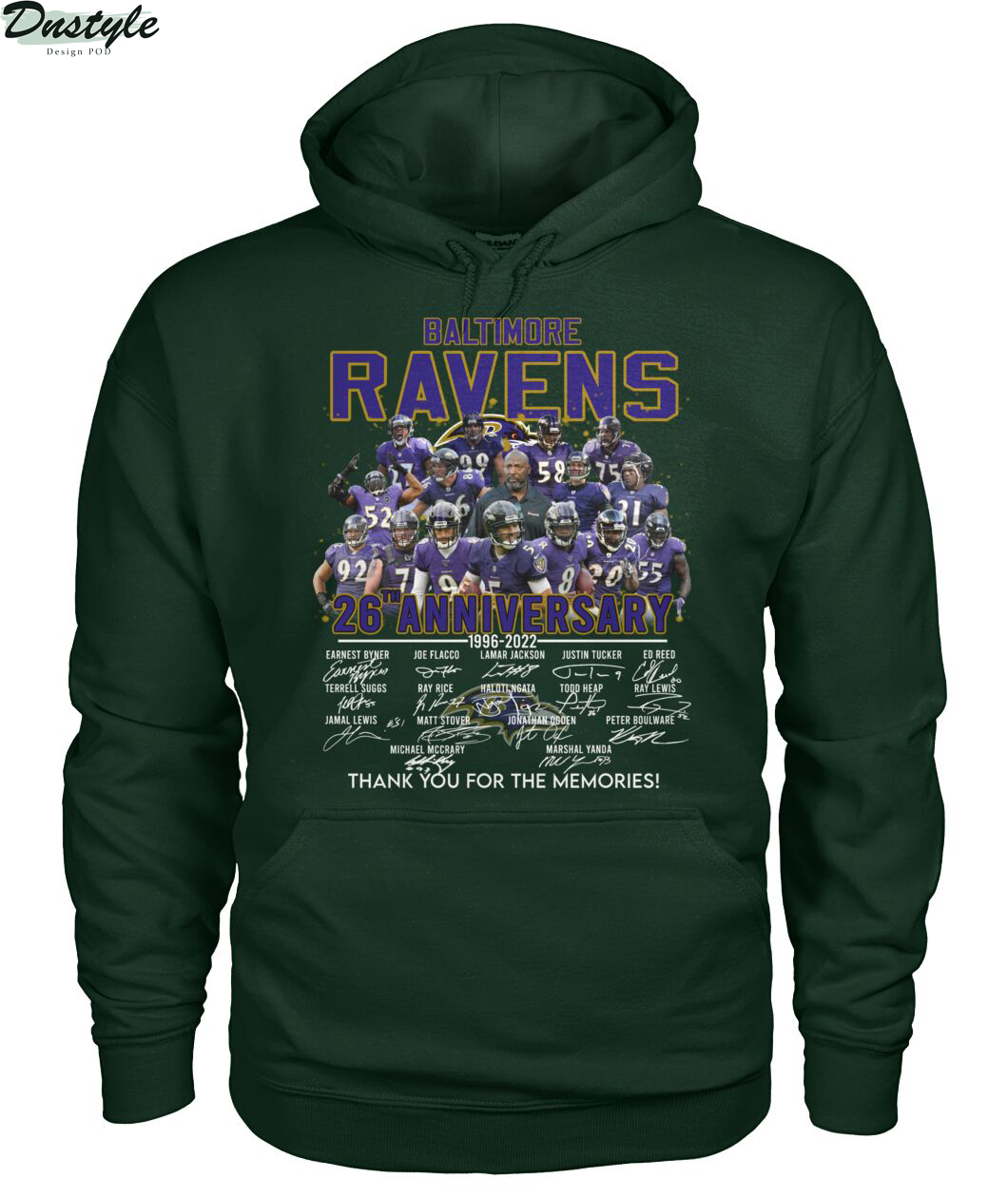 Baltimore ravens 26th anniversary thank you for the memories hoodie