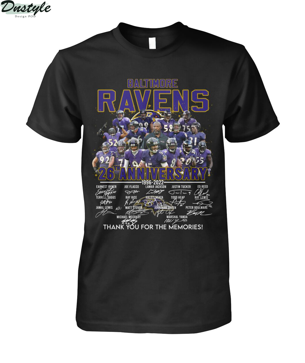Baltimore ravens 26th anniversary thank you for the memories shirt