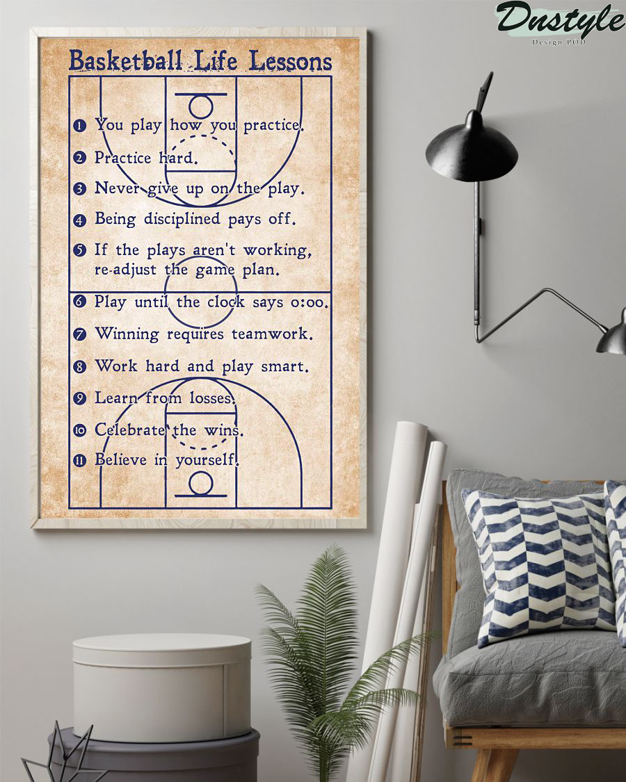 Basketball life lessons vertical poster 1
