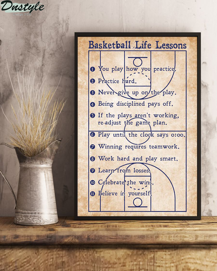 Basketball life lessons vertical poster 2