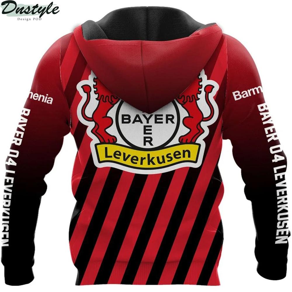 Bayer 04 leverkusen 3d all over printed hoodie 1