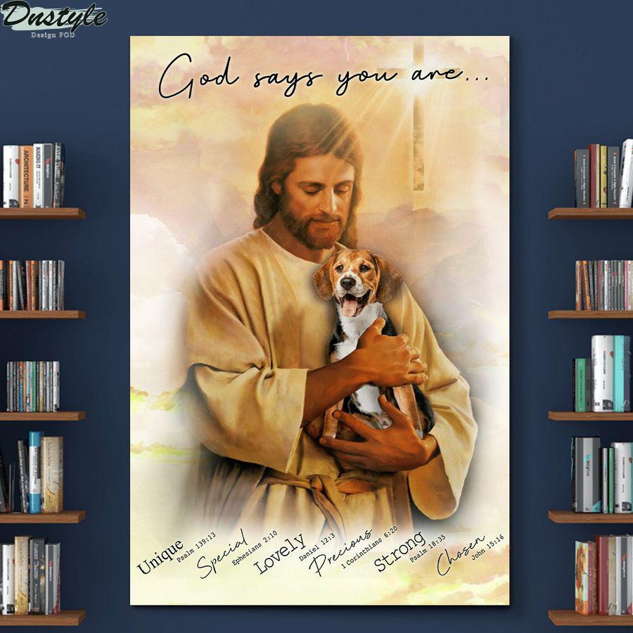 Beagle god says you are canvas