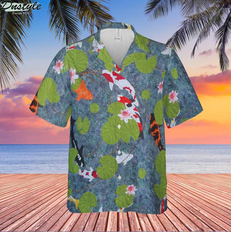 Beautiful Koi Fish Hawaiian Shirt