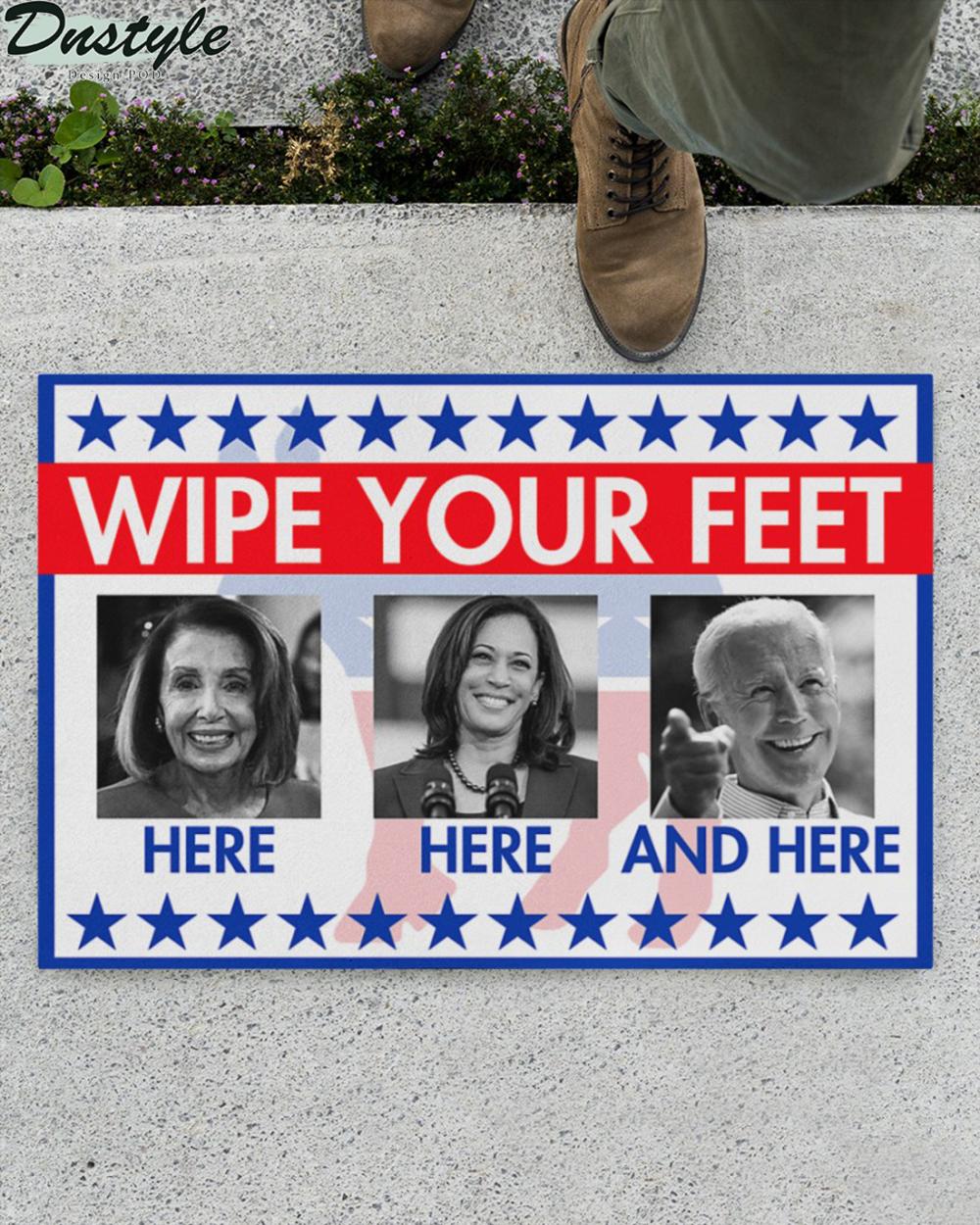 Biden and Kamala Harris wipe your feet here here and here doormat 1