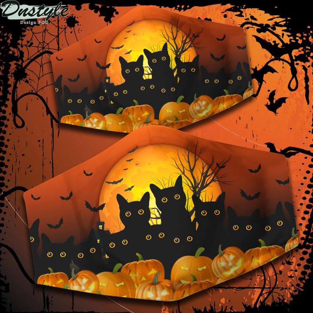 Black Cat Happy Halloween 3d face mask