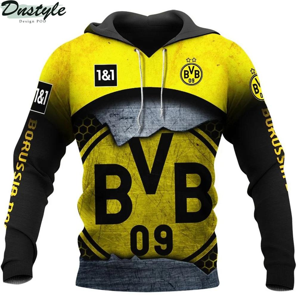 Borussia dortmund 3d all over printed hoodie 1