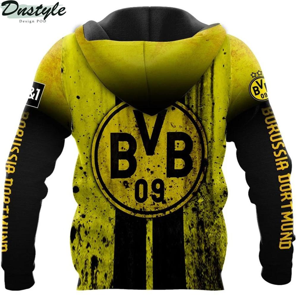 Borussia dortmund 3d all over printed zip hoodie 1