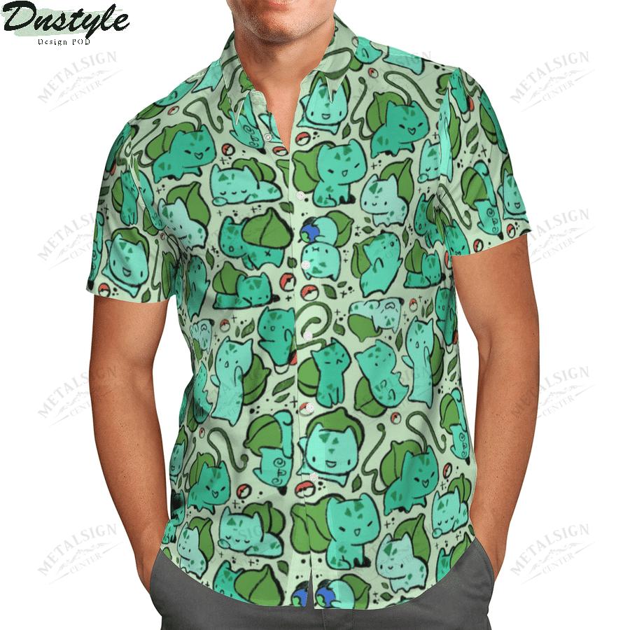 Bulbasaur anime pokemon hawaiian shirt 1