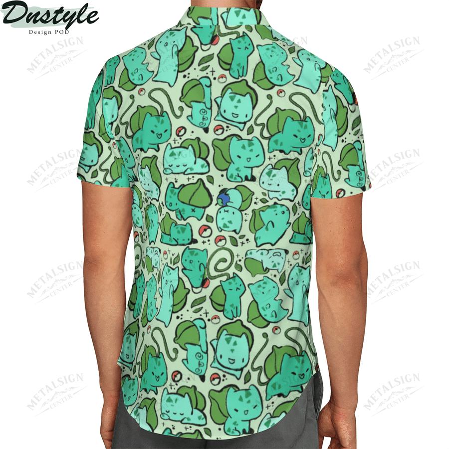 Bulbasaur anime pokemon hawaiian shirt 2