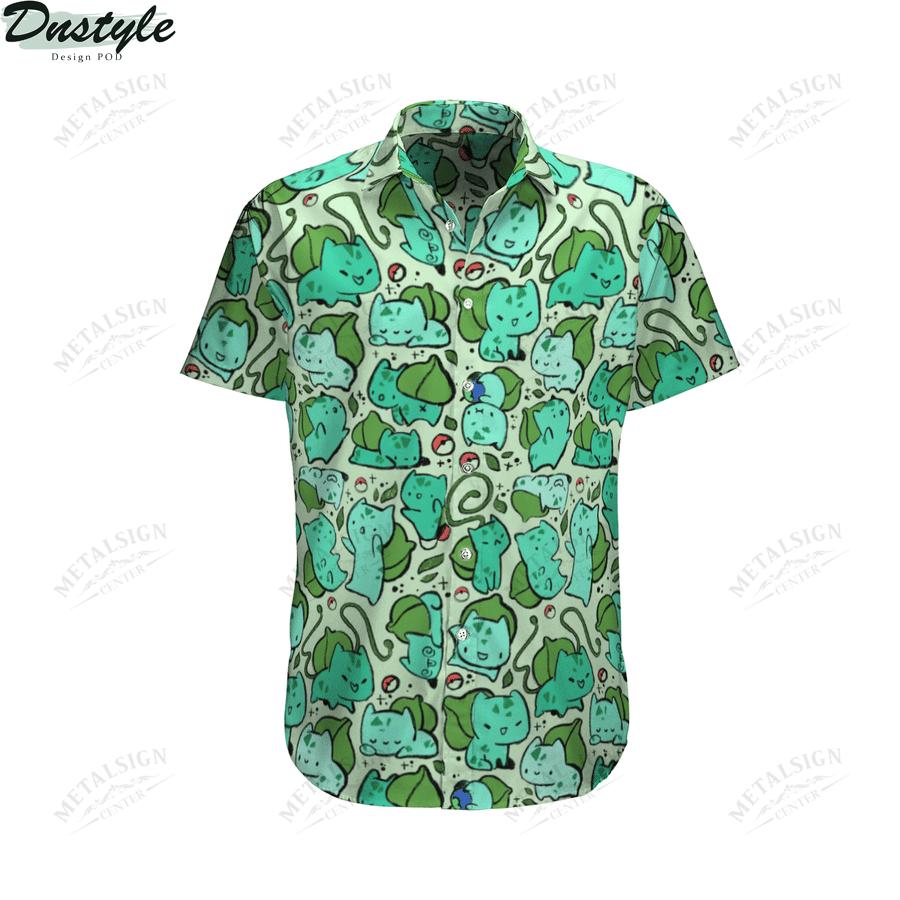 Bulbasaur anime pokemon hawaiian shirt