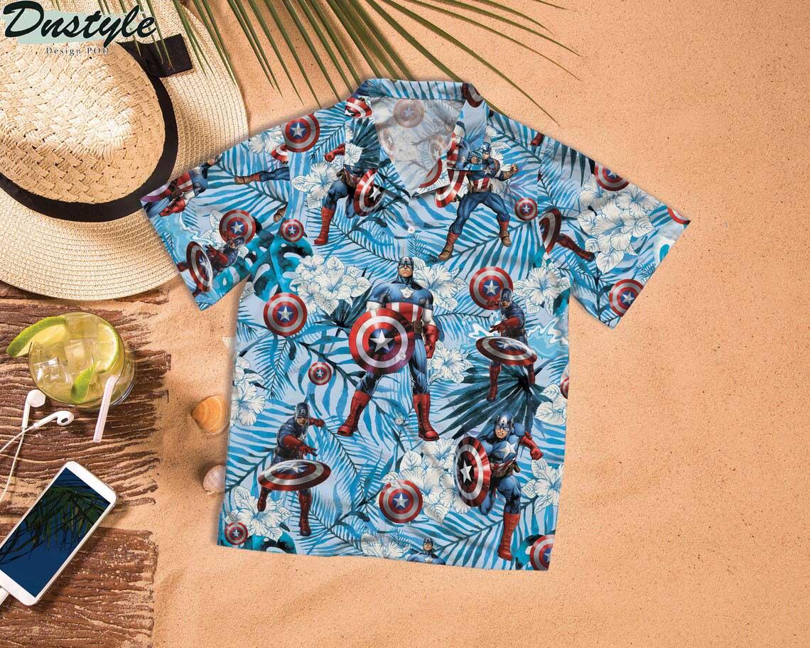 Captain America Surfing Hawaiian Shirt