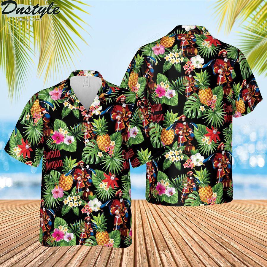 Captain morgan rum hawaiian shirt