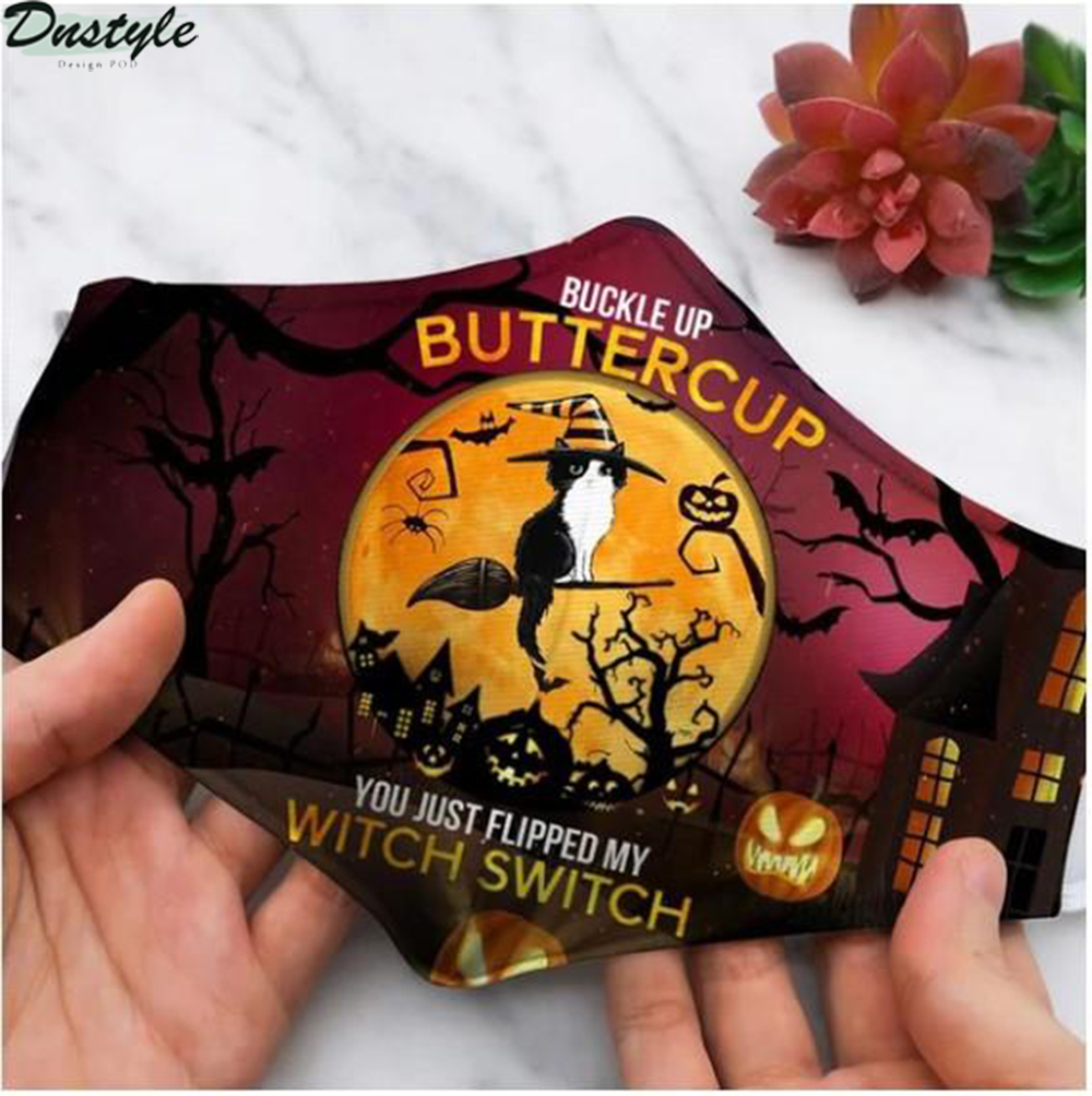 Cat buckle up buttercup you just flipped my witch switch 3d face mask