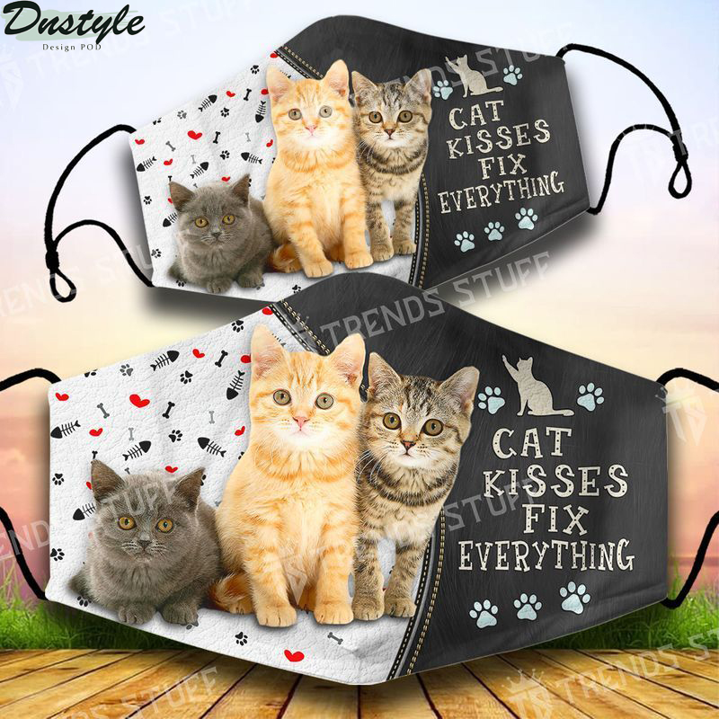 Cat kisses fix everything face mask