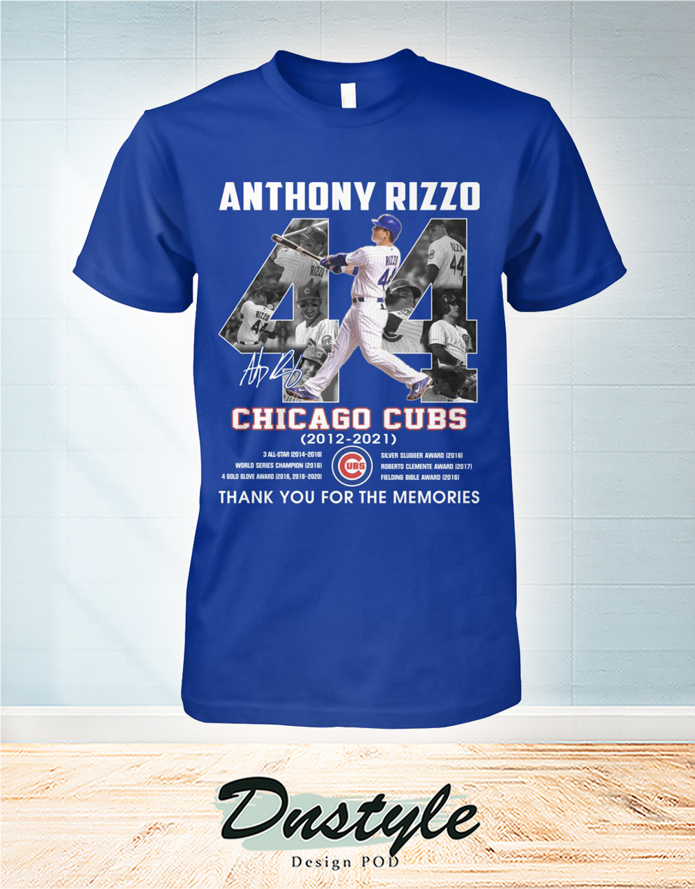 Chicago cubs Anthony Rizzo 44 signature thank you for the memories shirt