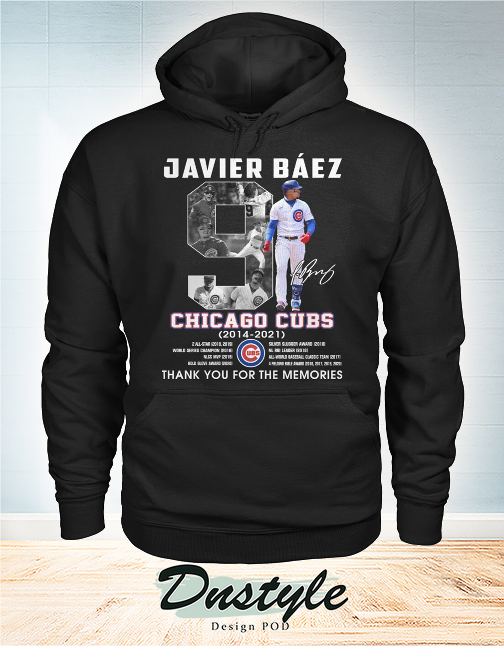Chicago cubs Javier Báez 9 signature thank you for the memories hoodie