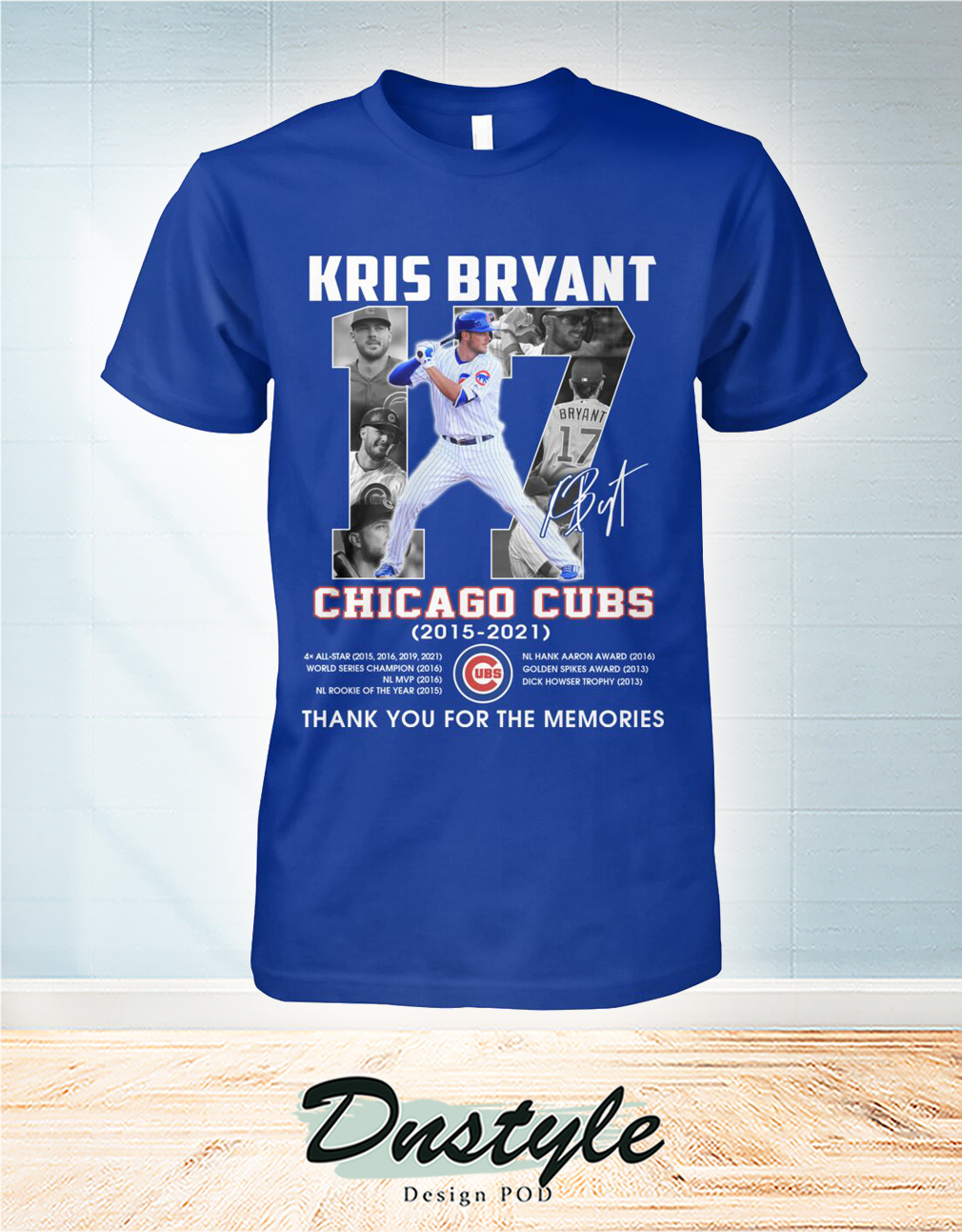 Chicago cubs Kris Bryant 17 signature thank you for the memories shirt