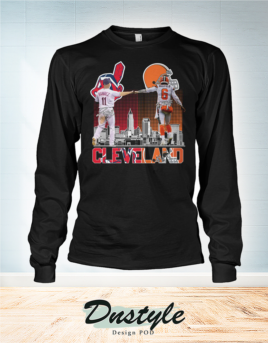 Cleveland Indians and Browns Ramirez and Mayfield long sleeve