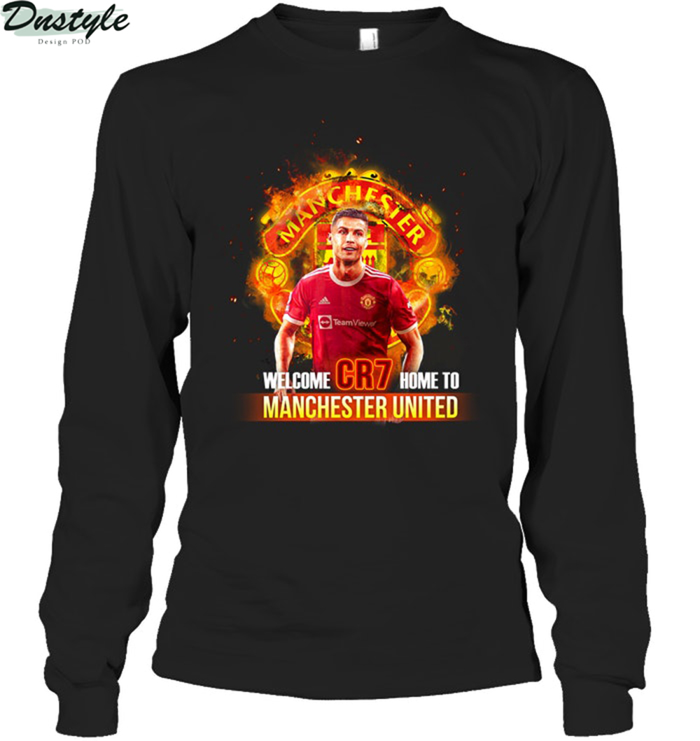 Cr7 welcom home to Manchester United 2009 2021 long sleeve