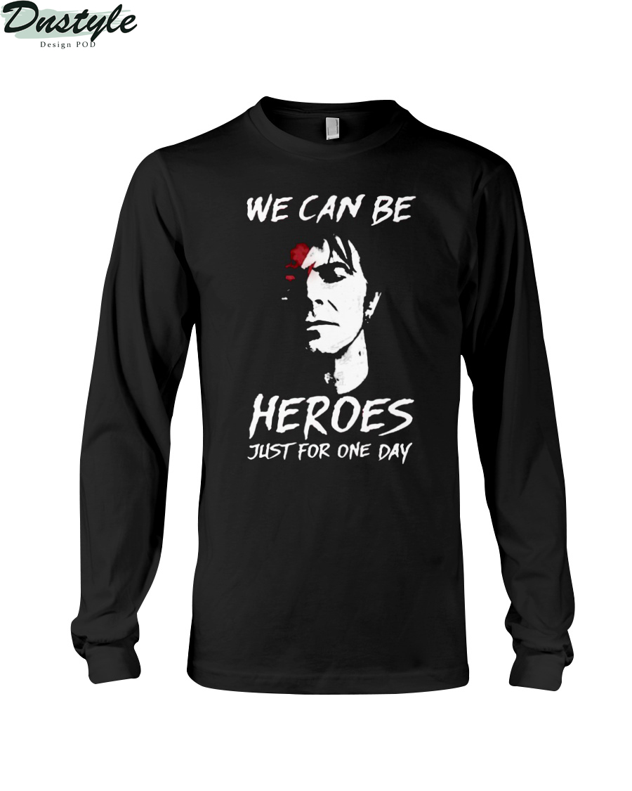 David bowie we can be heroes just for one day long sleeve
