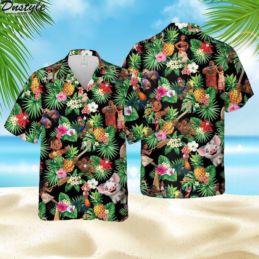 Disney Moana Meets the Ocean hawaiian shirt