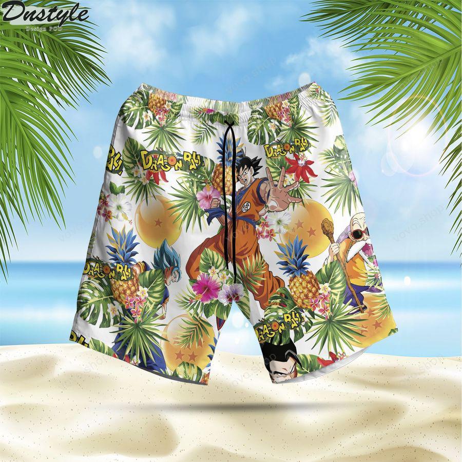 Dragon Ball Aloha Summer Beach Hawaiian short