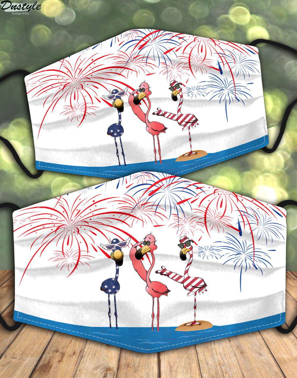 Flamingo american firework 3d face mask 1