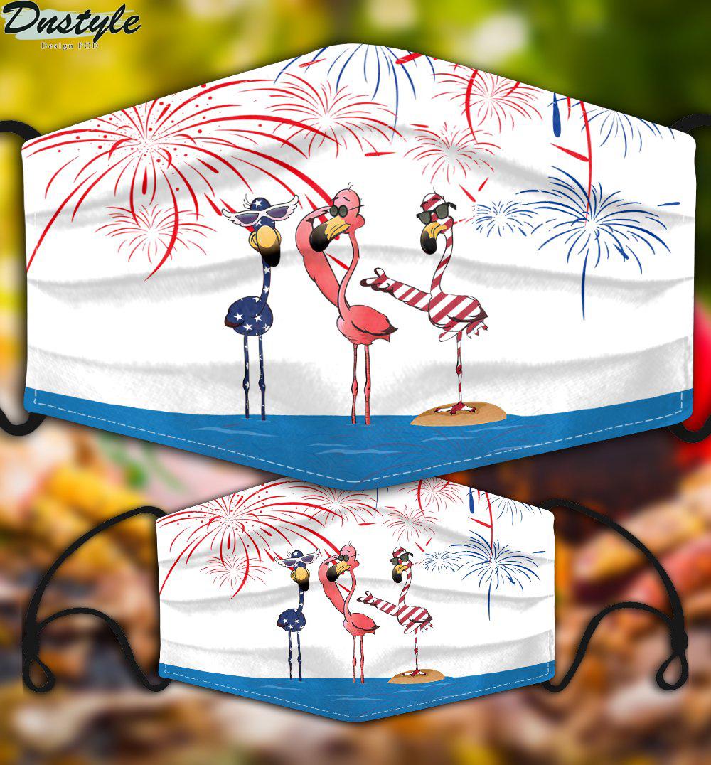 Flamingo american firework 3d face mask 2