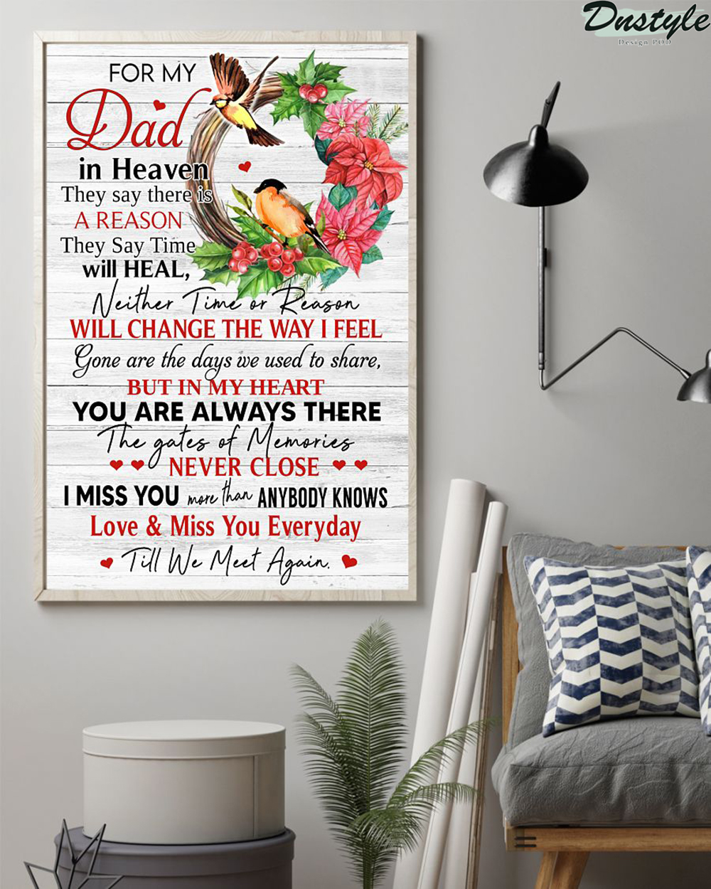 For My Dad In Heaven Vertical Poster 1