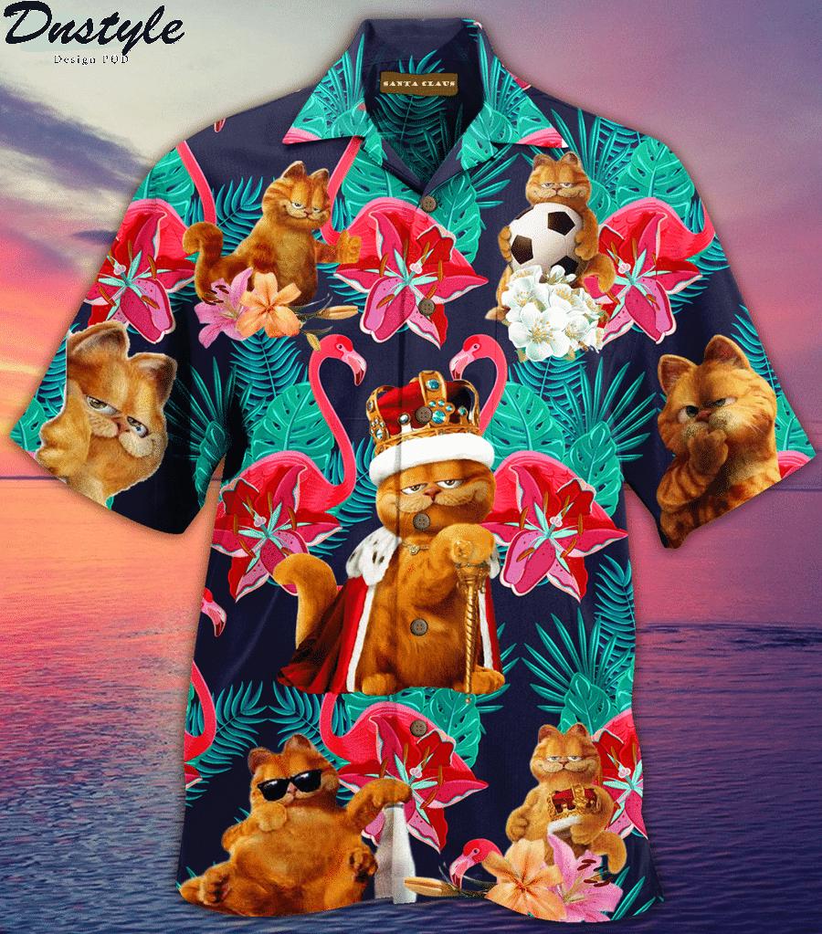 Garfield cat hawaiian shirt