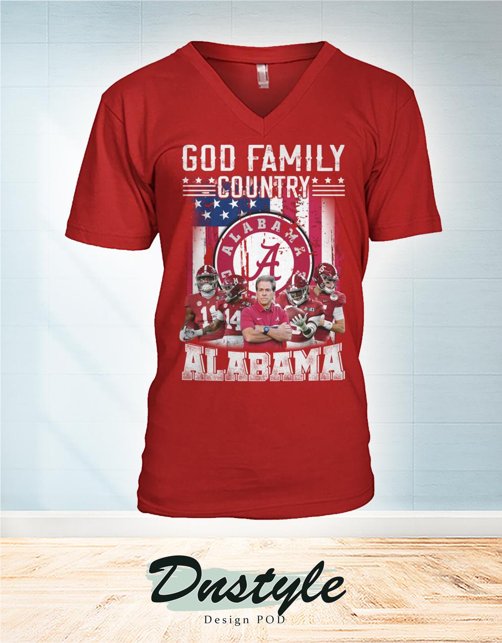 God family country Alabama v-neck