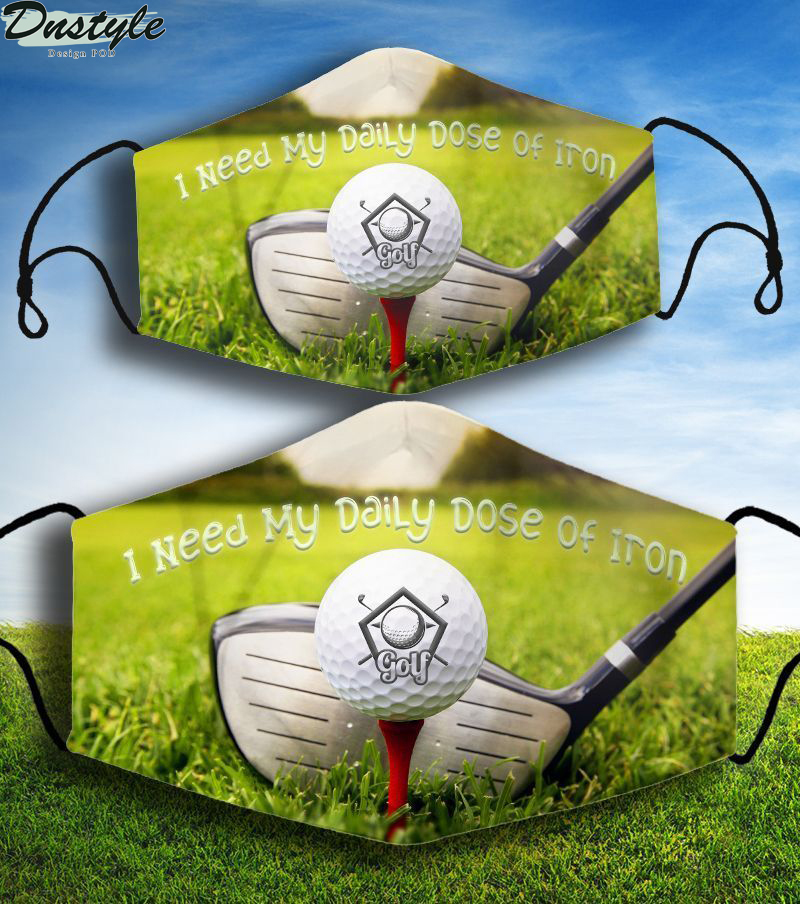 Golf I need my daily dose of iron face mask