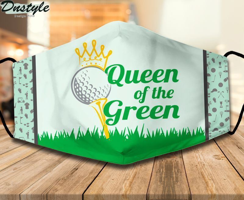Golf queen of the green face mask