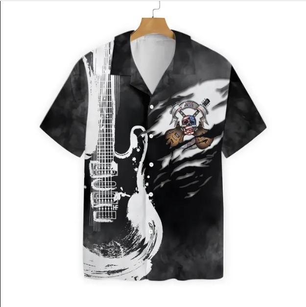 Guitar Live Free Hawaiian Shirt 1