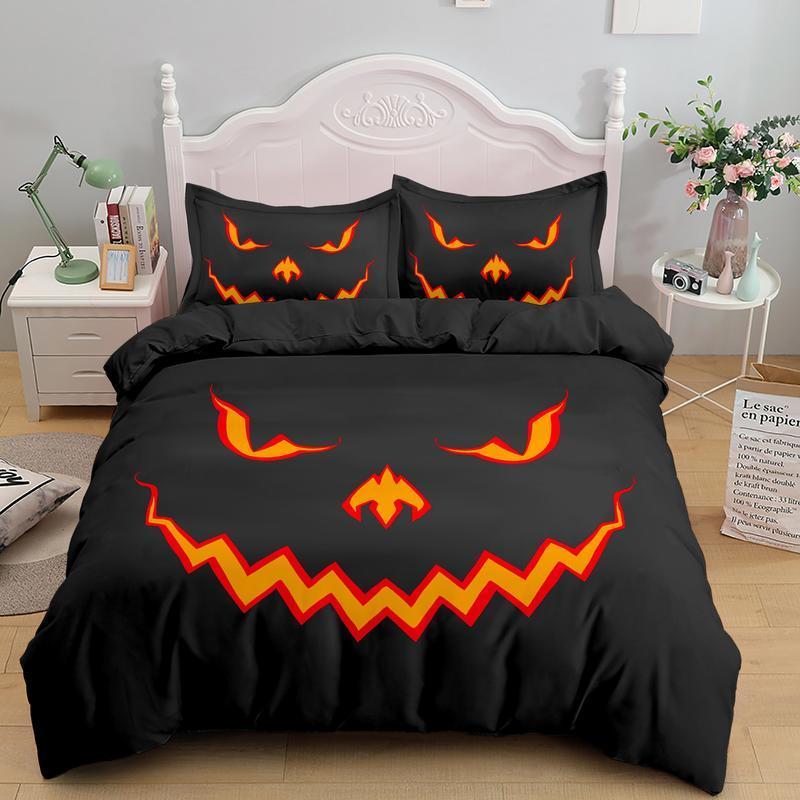 Halloween Jack o Lantern Pumpkin Bedding Set