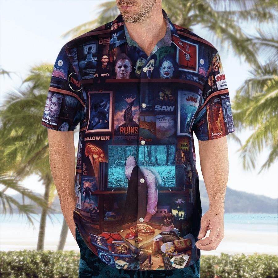 Halloween horror movies hawaiian shirt 1