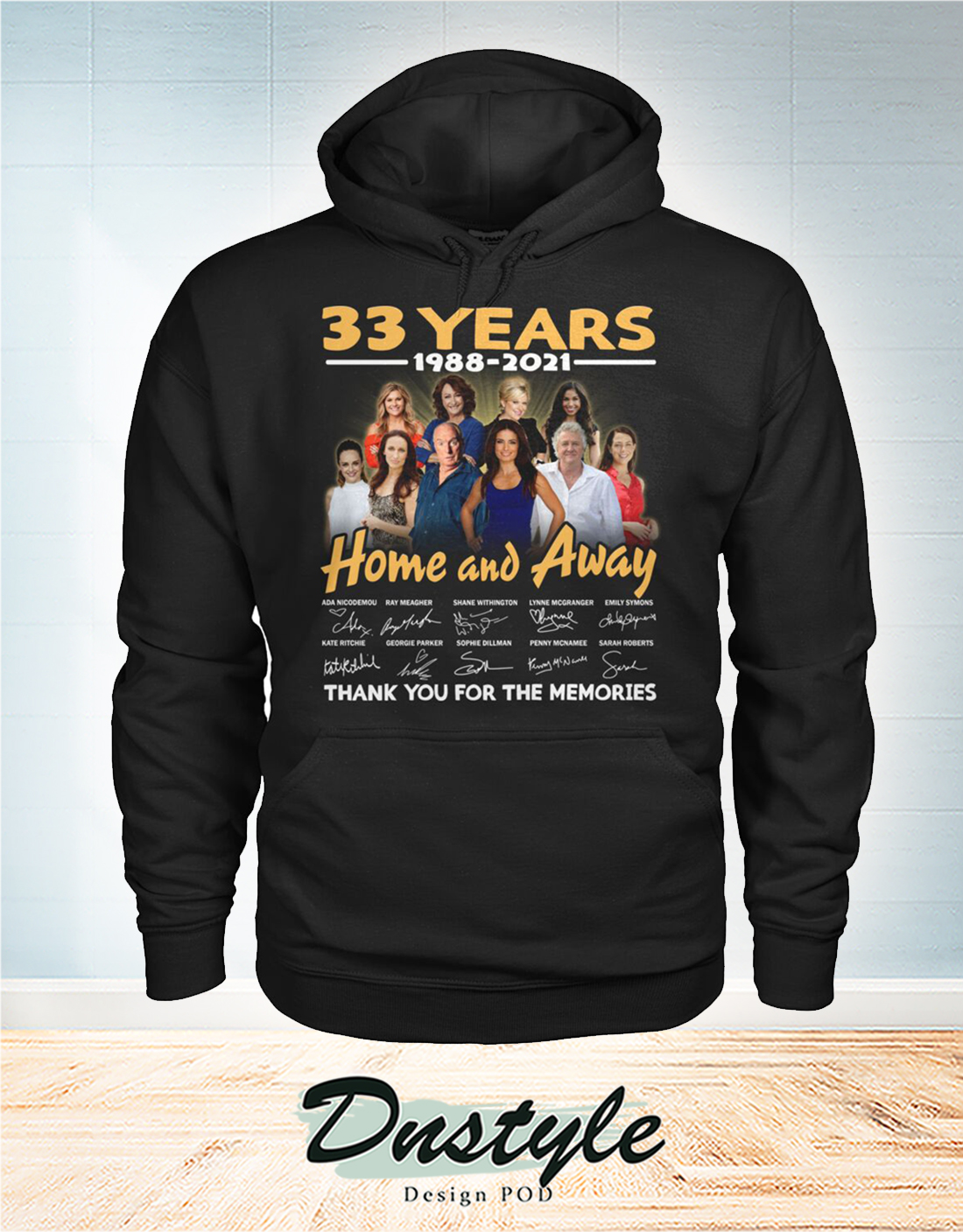 Home and away 33 years thank you for the memories hoodie