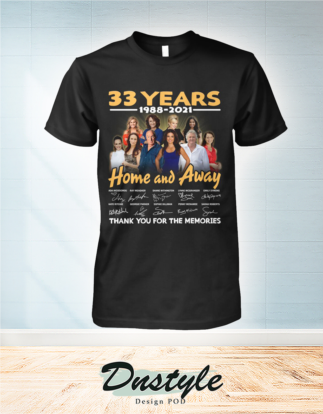 Home and away 33 years thank you for the memories shirt