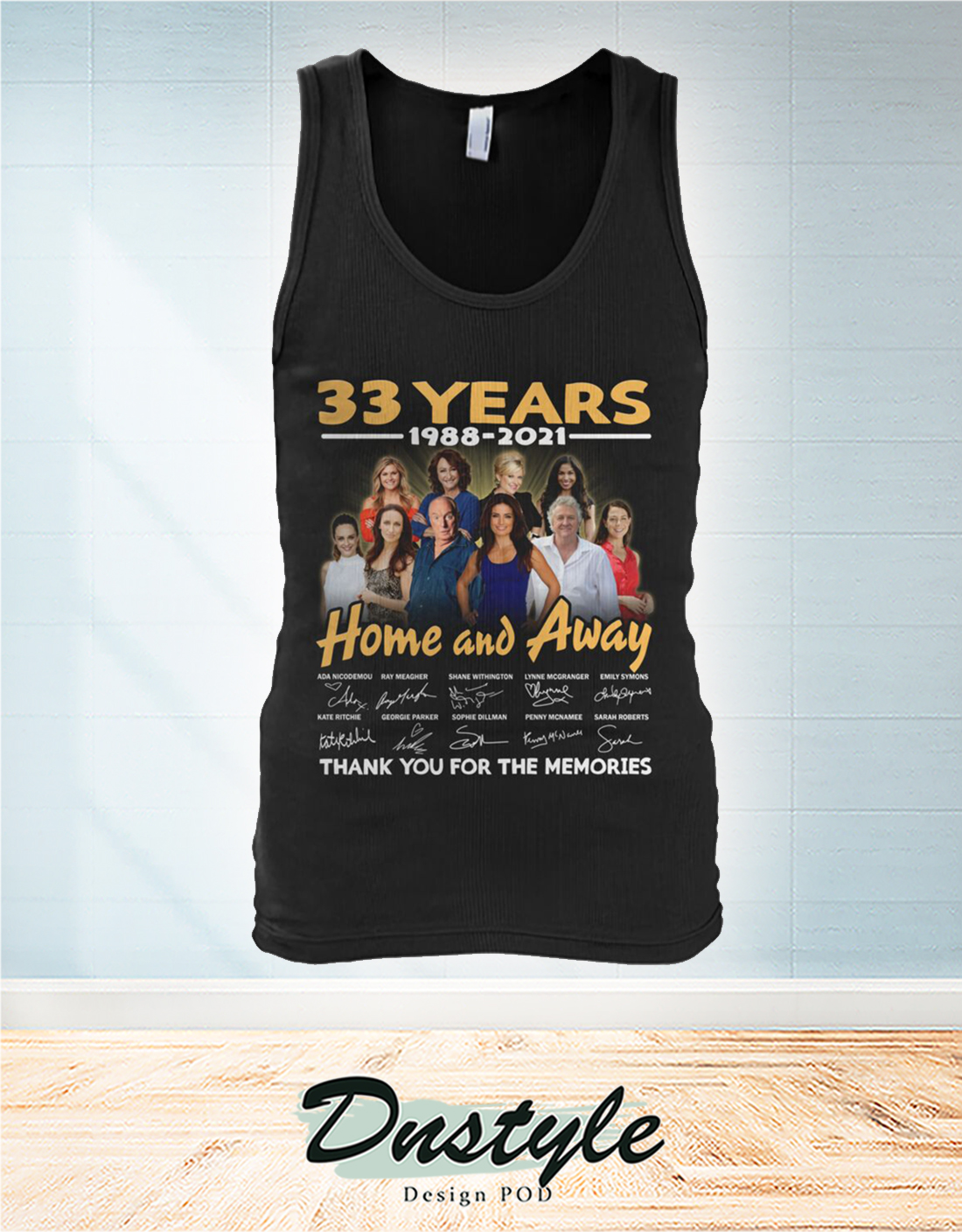 Home and away 33 years thank you for the memories tank top