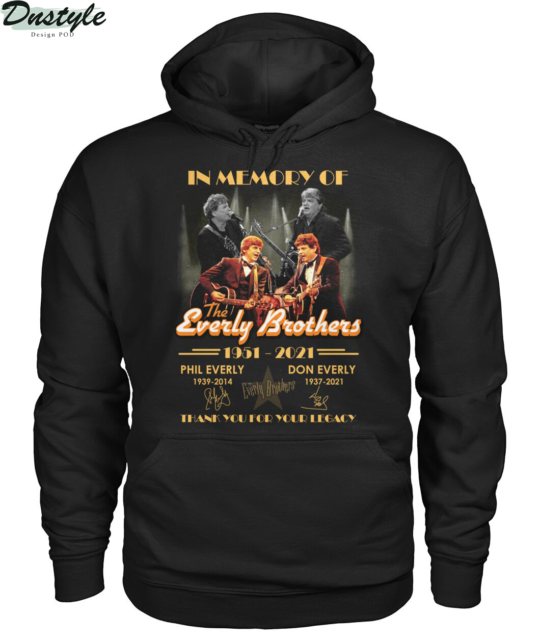 In memory of the everly brothers thank you for your legacy hoodie
