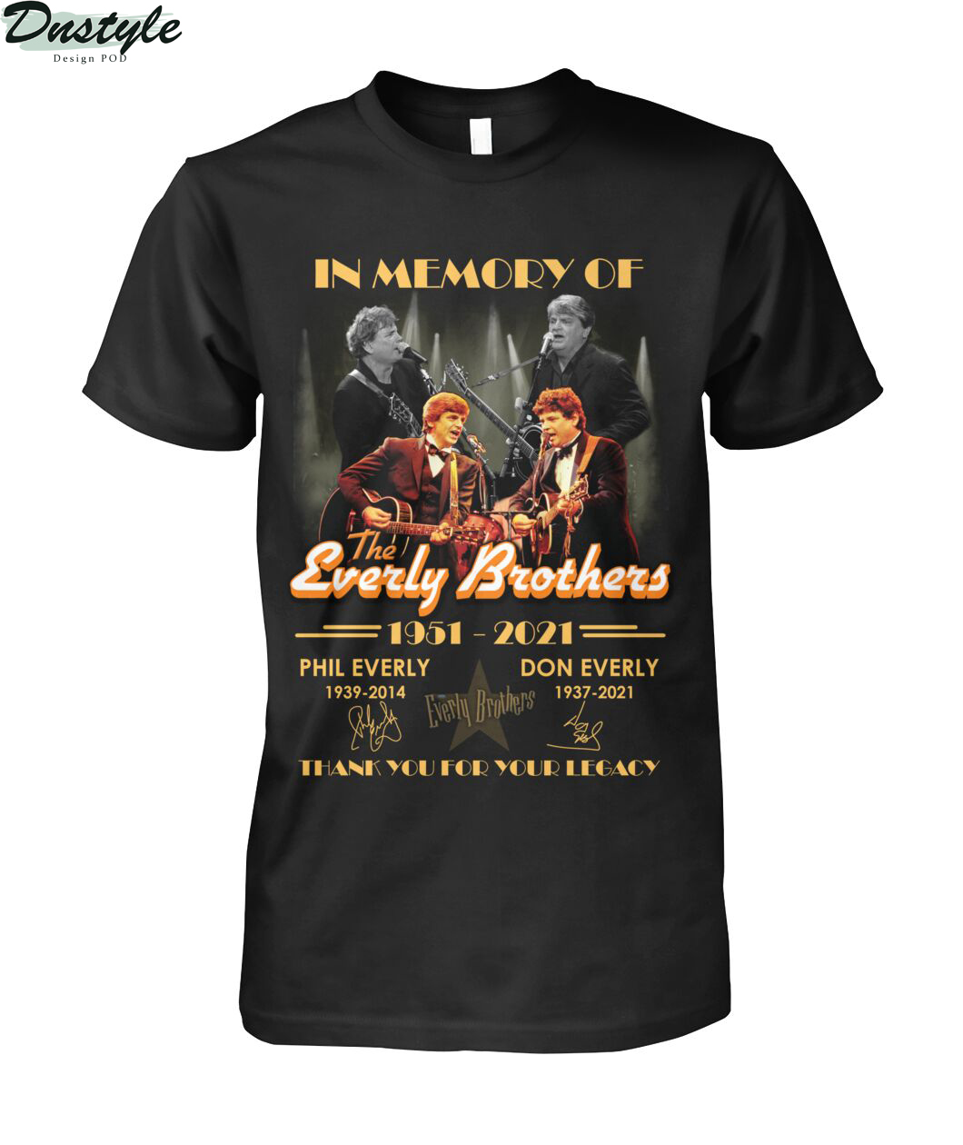 In memory of the everly brothers thank you for your legacy shirt