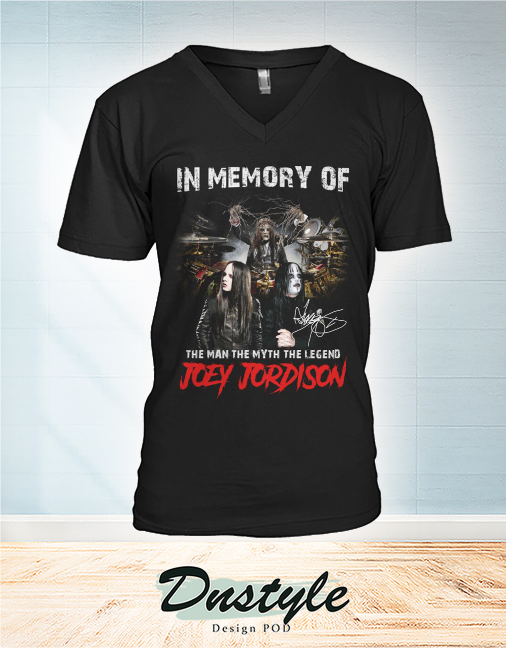 In memory of the man the myth the legend Joey Jordison v-neck