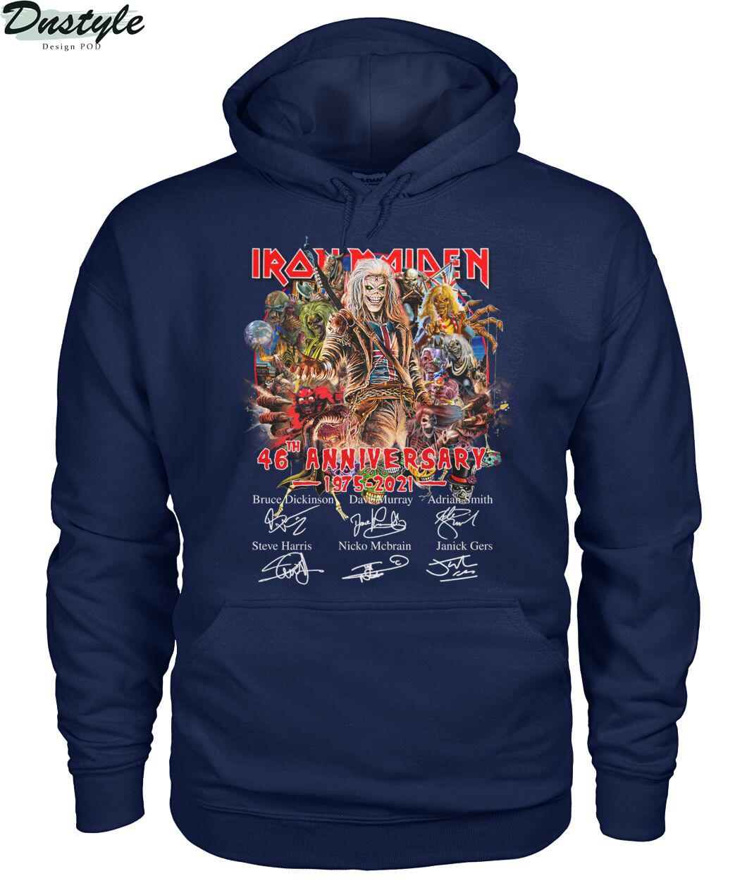 Iron Maiden 46th anniversary 1975 2021 signature hoodie